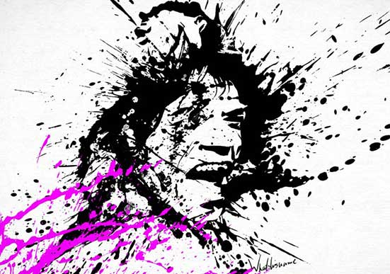 Splat Painting – Mick Jagger
