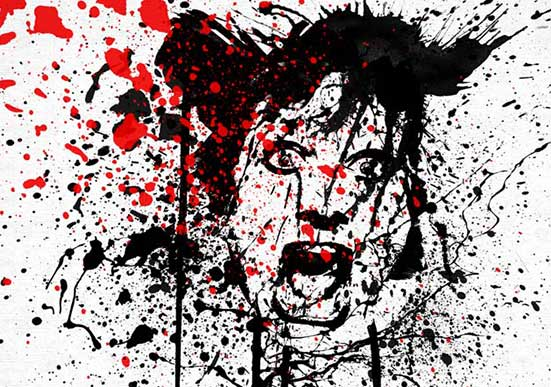 Splat Painting – Tre Cool