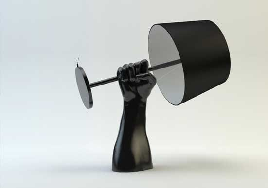 Fist of Unity table lamp