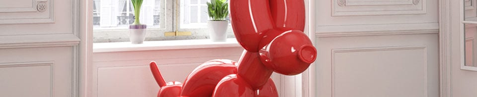 POPek squatting balloon dog by Whatshisname