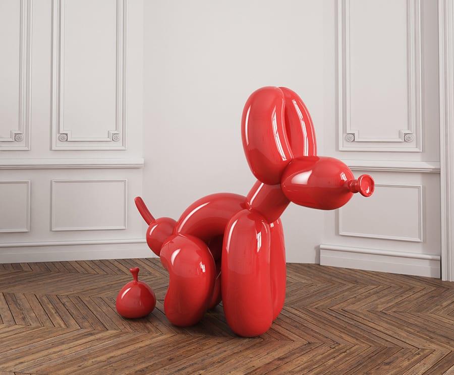POPek squatting balloon dog by Whatshisname