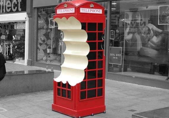 Bitten phone box – Croydon