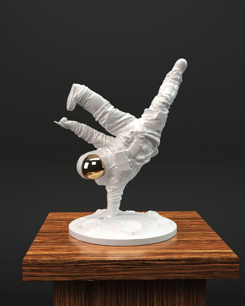 One Small Step Sculpture by Whatshisname
