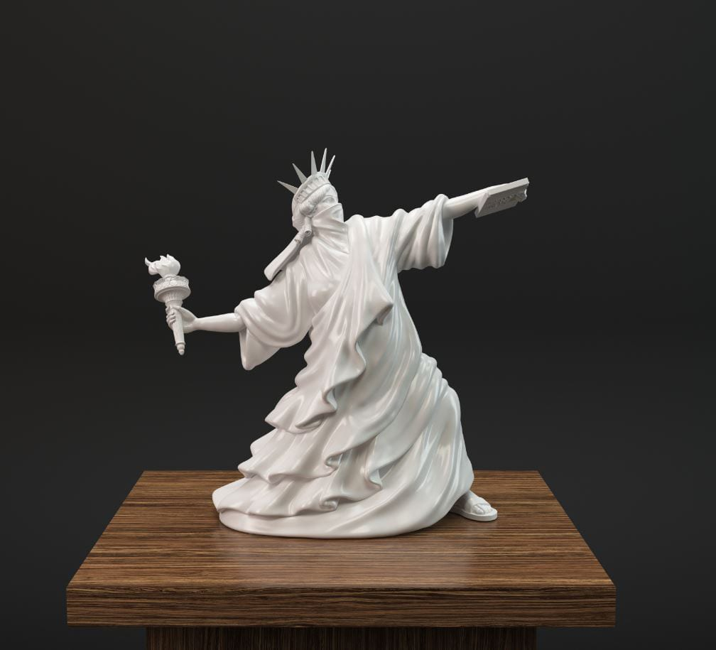Riot of Liberty sculpture by Whatshisname